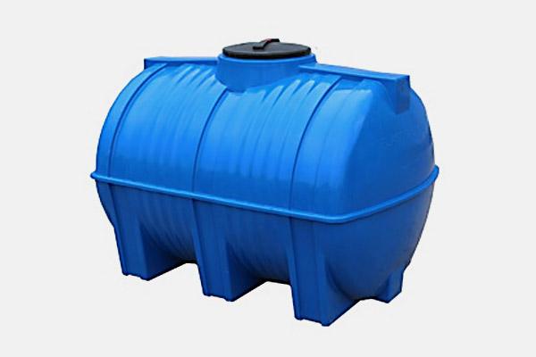 Емкость горизонтальная пластиковая 2000л (2-х слойная); Д/Ш/В: 1985х1180х1300; Люк: 450мм. «GOR H2000 У blue»