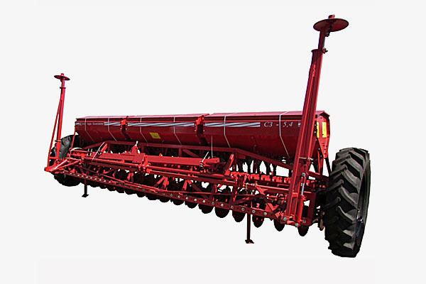 Сеялка зерновая СЗ 5,4М(Объем бункера:  для зерна – 1050 дм3, для туков – 580 дм3, междурядье – 150 мм)