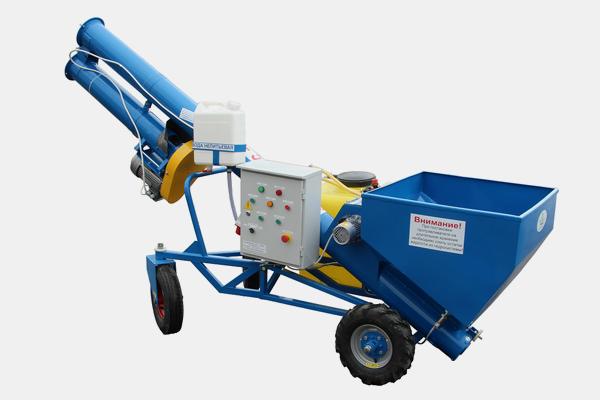 Протравливатель семян ПС-5Б Бункер для засыпки семян, емкость бака 120 л (п/э), производительность до 5 т/ч, выгрузка в «Биг-бэг» Стационарный