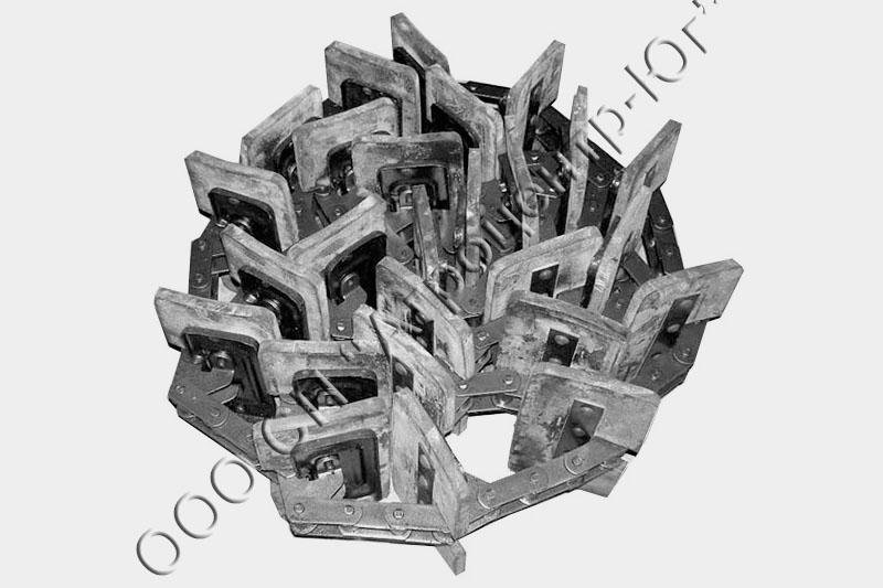 Транспортер зернового элеватора нижний (26 скребков) (ан. 07.400.000-07)