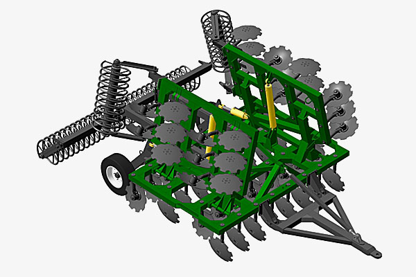 Борона дисковая четырехрядная прицепная складная БД-7х4ПГ
