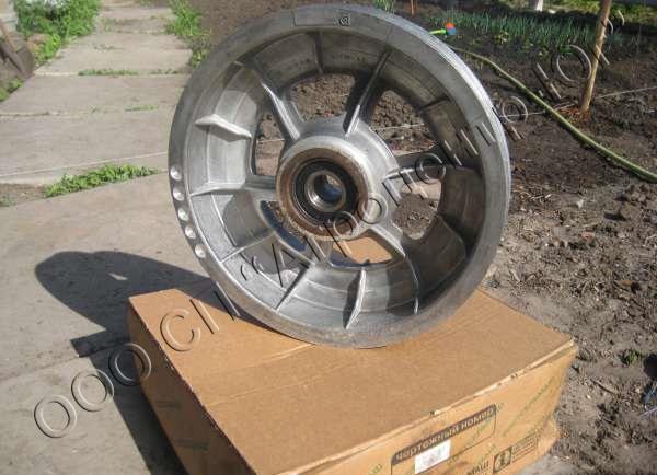 Шкив (4-х ручьевой D=475/355 мм) привода измельчающего барабана измельчителя Вектор, Дон-1500А/Б, Нива