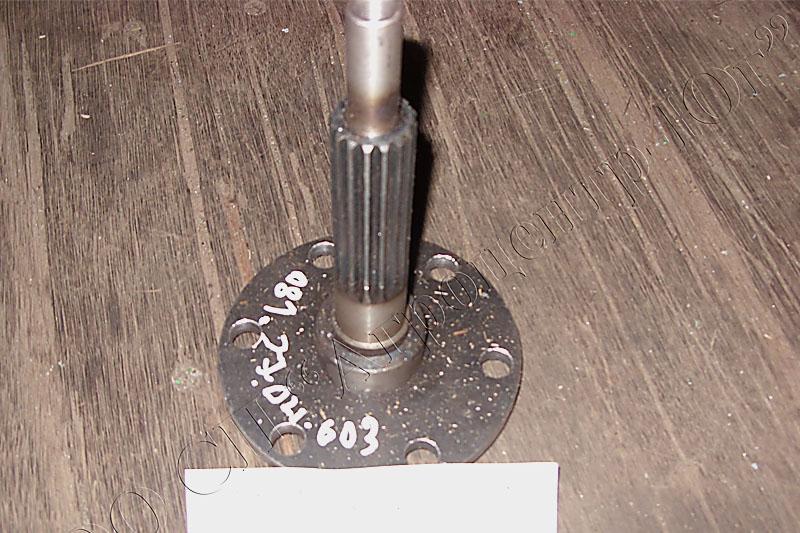 Вал шнека жатки слева для муфты усиленной (шлицы) Вектор, Акрос с 03.2010г.