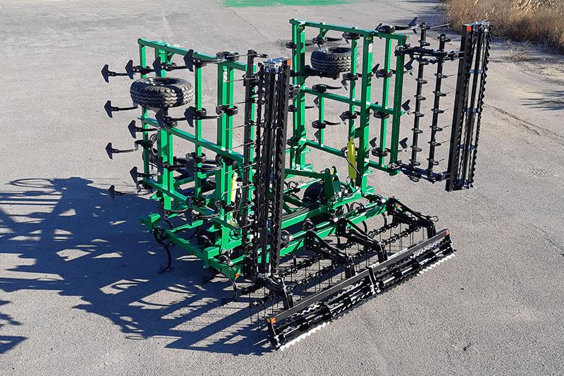 Культиватор сплошной обработки прицепной складной КПУ-8ПГ 2К, 8 м., 2 катка зубчатых