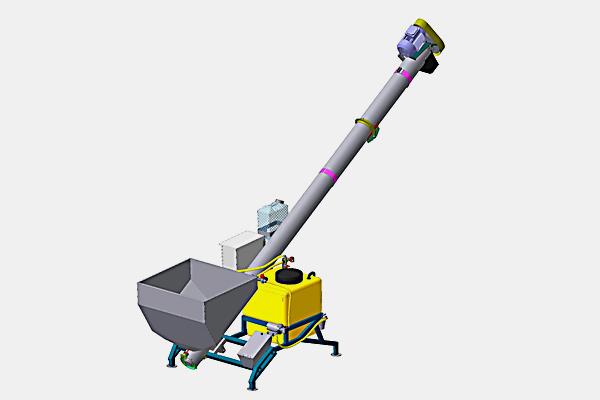 Протравливатель семян ПС-5 Бункер для засыпки семян, емкость бака 120 л (п/э), производительность до 5 т/ч. Стационарный