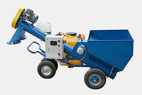 Протравливатель семян ПС-5  Бункер для засыпки семян, емкость бака 120 л (п/э), производительность до 5 т/ч