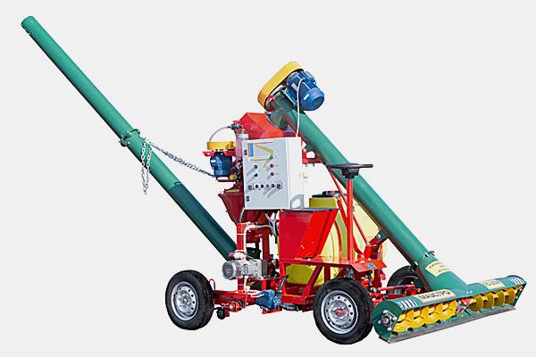 Протравливатель семян ПС-20 Самоходный, со складным удлиненным шнеком, автоматический, емкость бака 210 л (п/э), производительность до 22 т/ч, высота выгрузки 4,5 м.