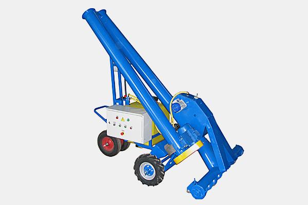 Протравливатель семян ПС-5М Самоходный, с удлиненным складным шнеком (высота выгрузки – 2,42 м), емкость бака 120 л (п/э), производительность до 5 т/ч