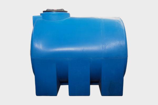 Емкость горизонтальная пластиковая 3000л (2-х слойная); Д/Ш/В: 1950х1360х1550; Люк: 450мм. «GOR 3000 bluе»