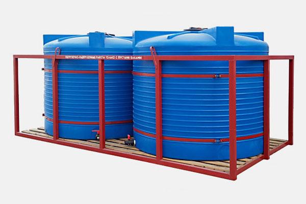 Кассета 10000л. для перевозки воды и ЖКУ: Д/Ш/В: 4200х2150х1850; Люк: 450мм. 2х4500T bluе