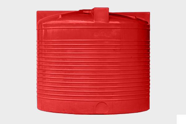 Вертикальная емкость 4 500л. d/В 2000×1770мм.; Люк: 450мм. «VERT 4500Т (max.5000) yellow/red»