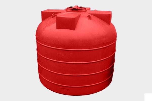 Вертикальная емкость 5 000л. d/В 2000×1800мм.; Люк: 450мм. «VERT 5000Т yellow/red»