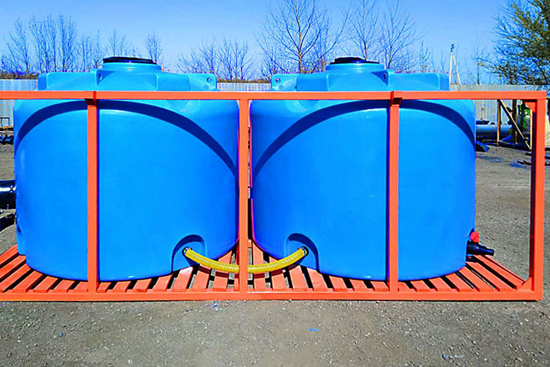 Кассета двойная (2 емкости по 5000л) для транспортировки растворных узлов агротехники на 10000 литров