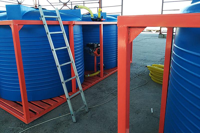 Кассета двойная (2 емкости по 6000л) для транспортировки растворных узлов агротехники на 12000 литров