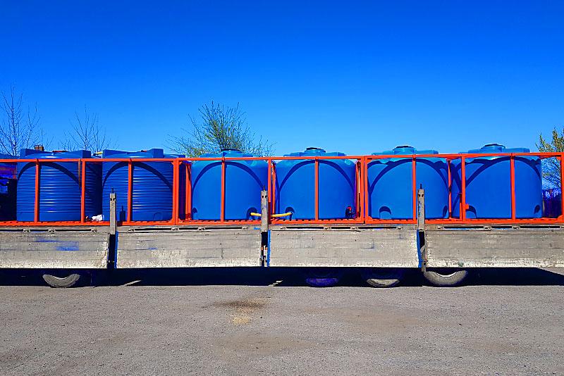 Кассета тройная (3 емкости по 6000л) для транспортировки растворных узлов агротехники на 18000 литров