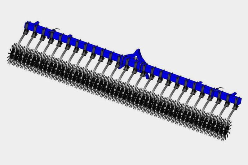 Борона-мотыга ротационная БМР-5,6 (п/ш FKL, доп.рессора)