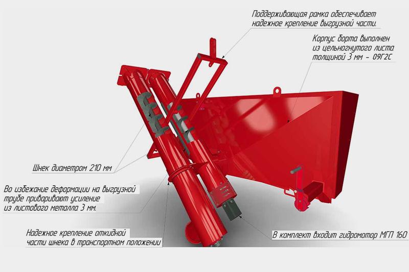 Загрузчик сеялок ЗСНР-25-01 (универсальный для ГАЗ, ЗИЛ, 2ПТС-4 чернильница нерегулируемая)