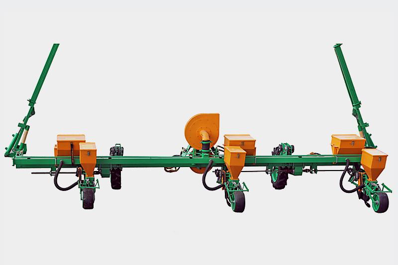 Сеялка пропашная навесная пневматическая МС-3 для высева бахчевых и овощных культур Междурядье 210 см, с вентилятором, туковой системой с бункером из черного металла