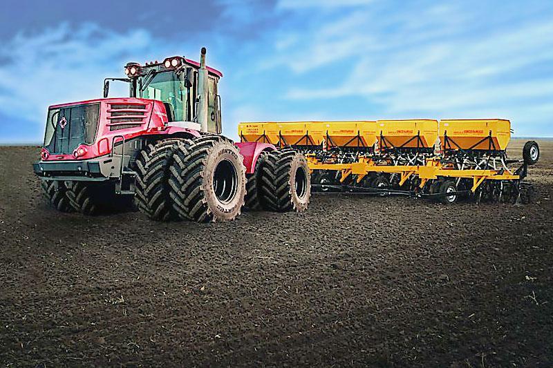 Посевной комплекс для зерновых культур ресурсосберегающий 6 – модульный КСКП – 2.1х6М Сдвоенное переднее колесо,  бункер УВЕЛИЧЕННЫЙ (550 дм. куб) без ходовой рамки, БОРОНА