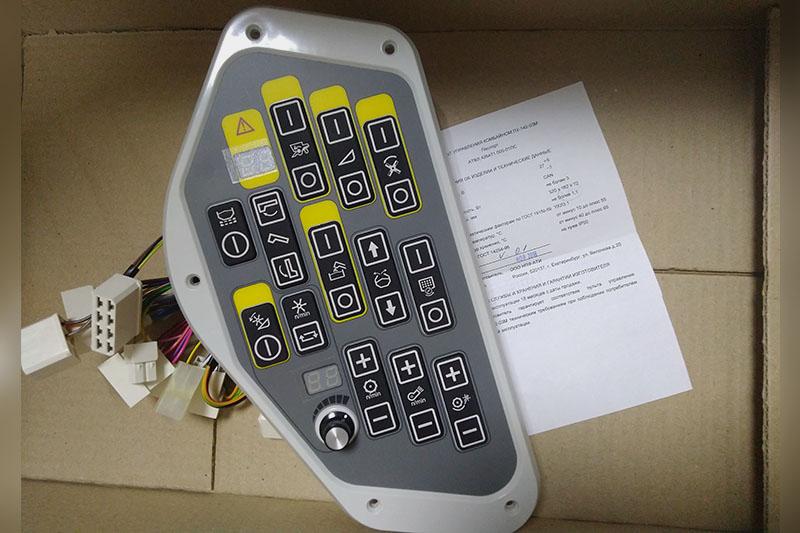 Пульт управления комбайна (Acros 560-530) ПУ-142-03 (замена ПУ-142-01/ПУ-142-02, уже совмещен с ПУМ-02)