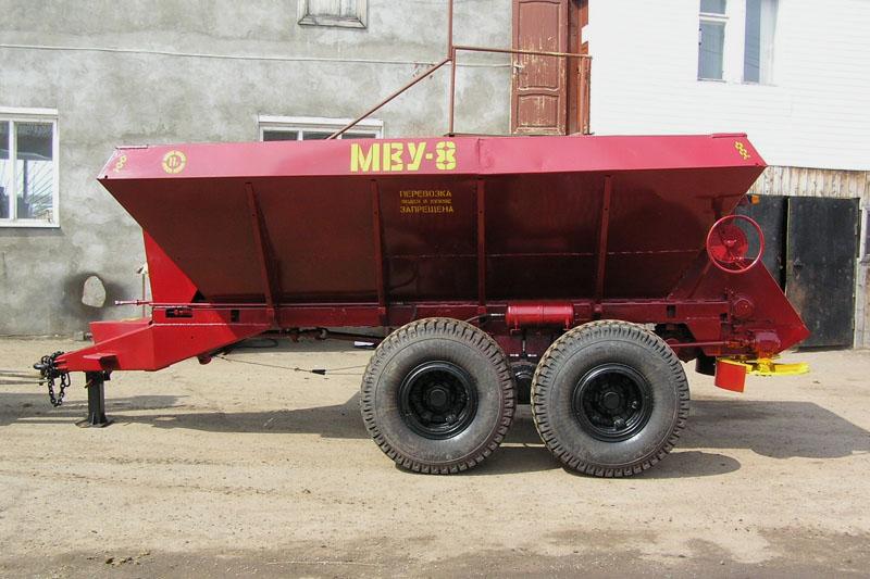 Разбрасыватель минеральных удобрений МВУ-8Г (7 кубов, 8 тонн) под МТЗ-1221, ХТЗ, ХТА, К-700