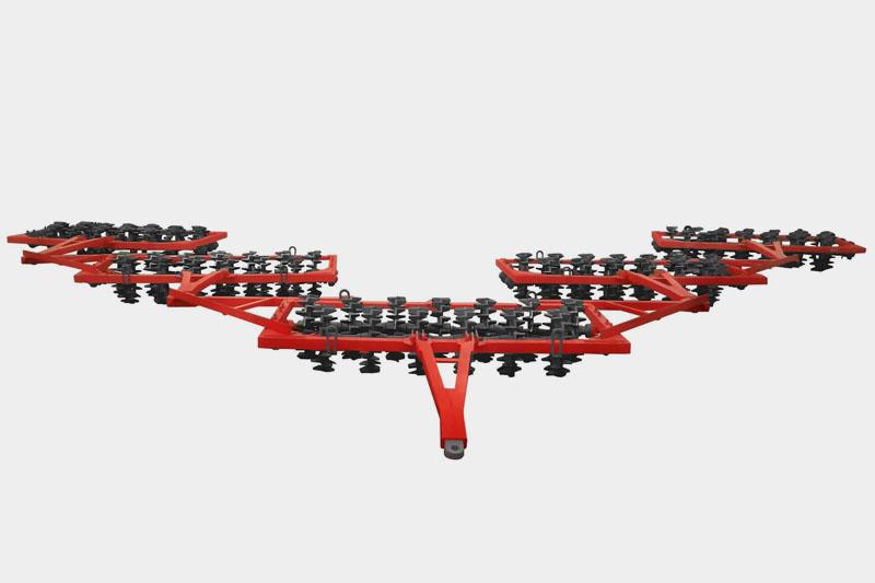 Каток 7ККШ-14 кольчато-шпоровый прицепной (чугунный, прицепной 520мм)