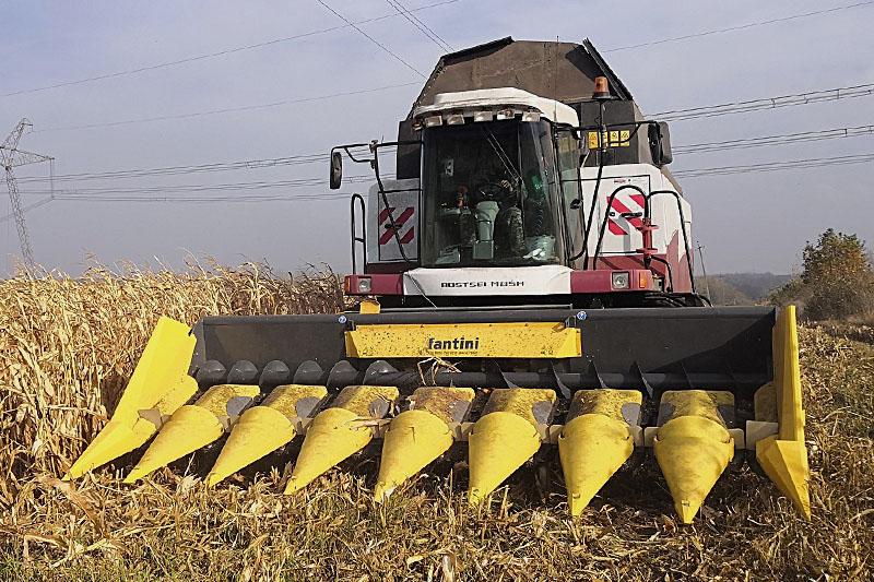 Жатка кукурузная Fantini L04 12-и рядная жатка с редукторным приводом с боковым расположением измельчителя